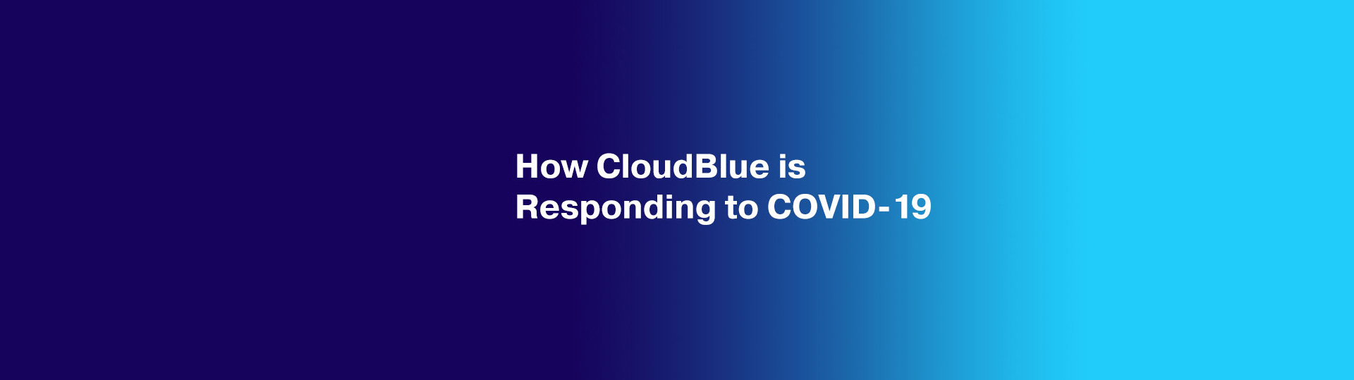 How CloudBlue is responding to COVID-19